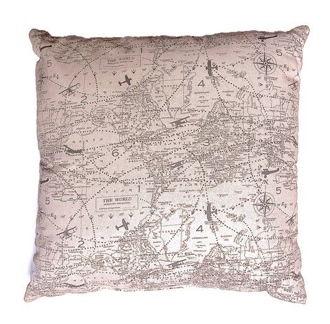 Take a Map on Your Couch | Pillow