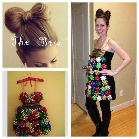 Two Pinterest Ideas = my successful Tacky Sweater Christmas party outfit!  (I think, - Two Pinterest Ideas = My Successful Tacky Sweater Christmas Party
