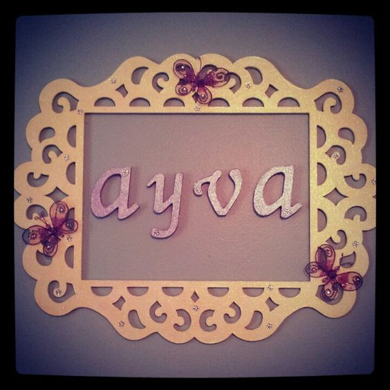 Michaels Wall Decor Diy : Diy name wall decor for baby girl nursery frame letters