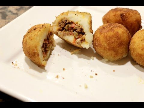 Cuban Stuffed Potato Balls like Porto's Cafe | Rookie With A Cookie - YouTube
