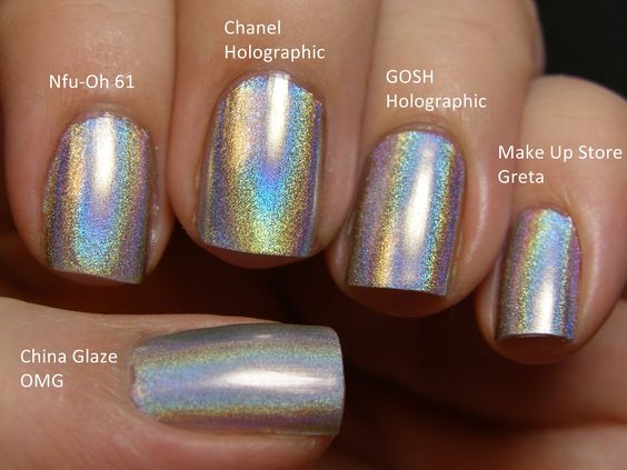 Holographic Nail Polish Different Brands Same Look My Style Pinterest Polish Toe And Nails