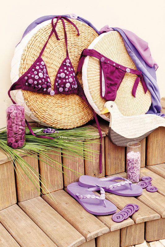 bikinis bordados | Materiais utilizados no passo a passo de chinelos artesanais: