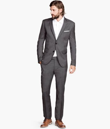 The Look; Charcoal H and M Suit: Pants - $59.95, Jacket - $149.00