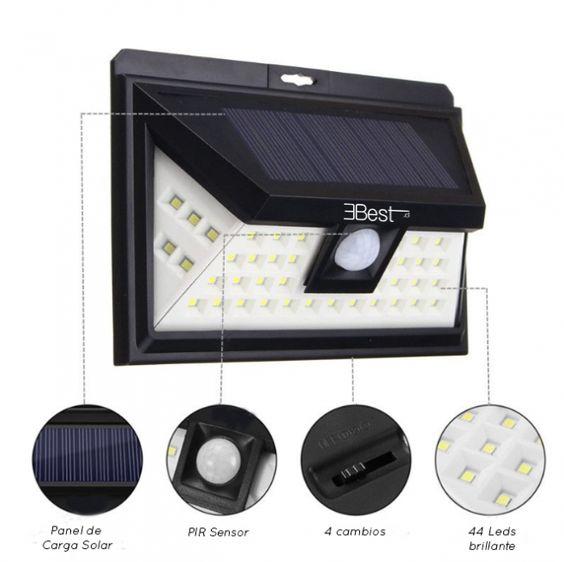 Foco Solar De 44 Leds Ebest De Luces Solares Nueva Generacion Luces Solares Iluminacion Solar Al Aire Libre Y Focos
