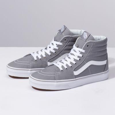 Vans   Gray high top vans, Vans shoes