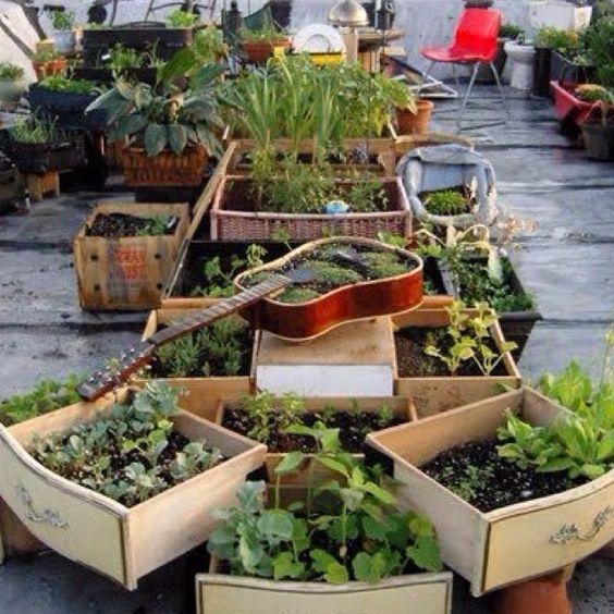 Rooftop Vegetable Garden Ideas: Creative Idea For A Rooftop Garden Design.