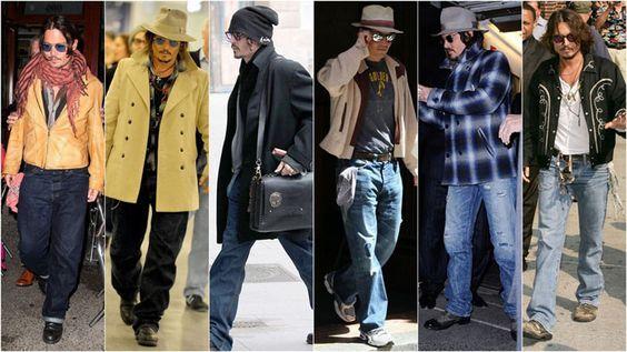 estilo look johnny depp - Pesquisa Google
