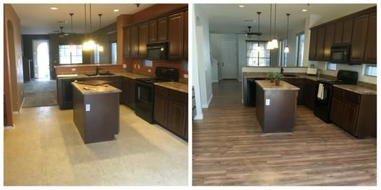 Trafficmaster Lakeshore Pecan 7 Mm Thick X 7 2 3 In Wide X 50 5 8 In Length Laminate Flooring 24 17 Sq Ft Case 35947 The Home Depot Flooring Laminate Flooring The Home Depot