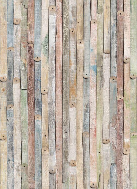 vintage wood mural: