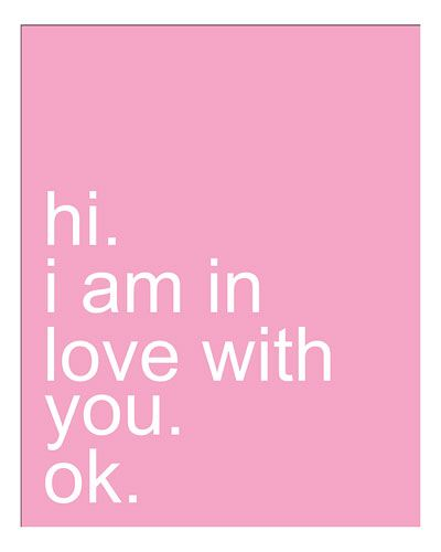 """I Am In Love With You"" Print by Ani Keshishyan"