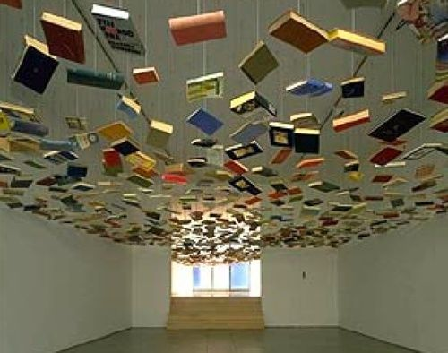 A false ceiling of books! The Weird  Wonderful Pinterest