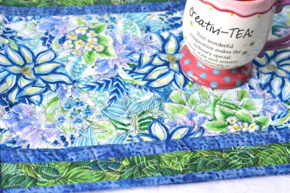 Beautiful Easter Decoration  Love this floral fabric!!! Handmade Table Runner, by WexfordTreasures