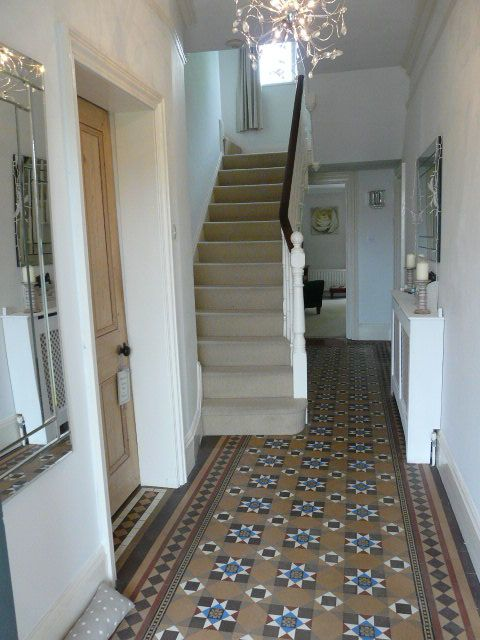 My hallway minton tiled flooring victorian housey for Tiled hallway floor ideas