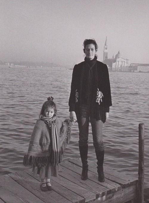 STYLIST VENETIA SCOTT WITH HER DAUGHTER LOLA SHOT BY JUERGEN TELLER