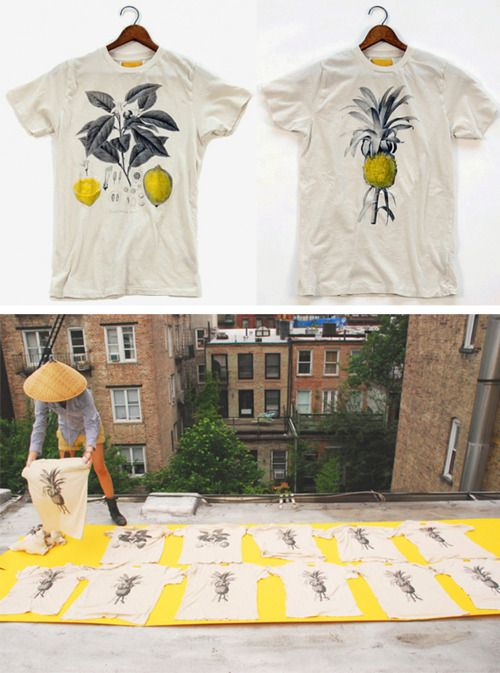 Hand-painted Botanical Tees by Baron Wells.