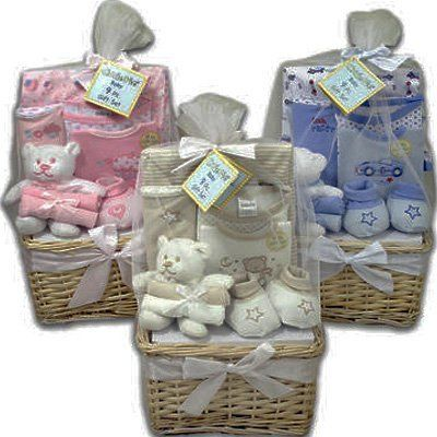 What a Cutie Pie New Baby Gift Basket for Boys « Holiday Adds
