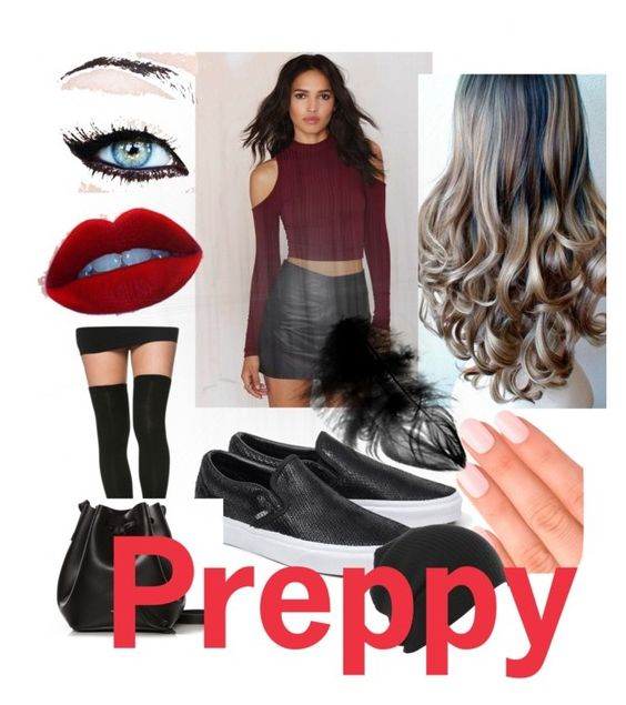 """""""Preppy """" by march8th ❤ liked on Polyvore featuring Solemio, Vans, Elegant Touch and Rachael Ruddick"""
