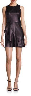 Parker Sleeveless Crewneck Leather Dress, Leather Dress, schwarz, black, Leder Outfits, Ledermode, Leather, Fashion, Dress