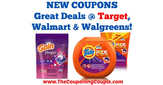 Love these coupons, always make great deals with sales! Great Deals on Tide PODS + Gain Flings with NEW Coupons @ Target, Walmart + Walgreens!  Click the link below to get all of the details ► http://www.thecouponingcouple.com/great-deals-on-tide-pods-gain-flings-with-new-coupons-target-walmart-walgreens/ #Coupons #Couponing #CouponCommunity  Visit us at http://www.thecouponingcouple.com for more great posts!