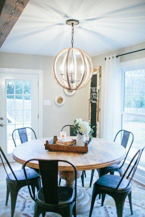 Fixer Upper Season 2 Episode 8 The Shingle Shack Kitchen Table Lighting Round Kitchen Table Kitchen Table Centerpiece