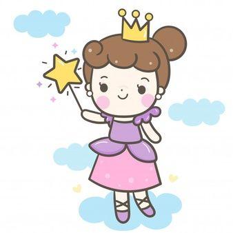 Vetor De Garota Bonito Do Angulo Segurando Os Desenhos Animados De