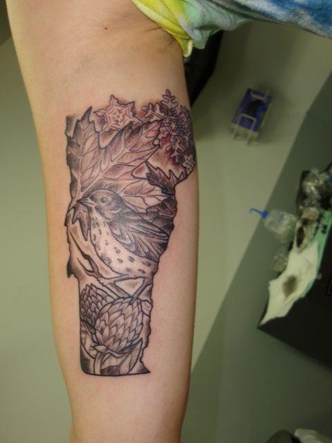 vermont tattoo by Nora | Jade Lotus