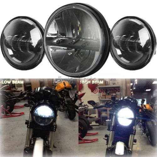 "motorcycle-parts: Motorcycle 7"" LED Projector Headlight Passing Light for Harley Touring 1994-2015 #Motorcycle - Motorcycle 7"" LED Projector Headlight Passing Light for Harley Touring 1994-2015..."