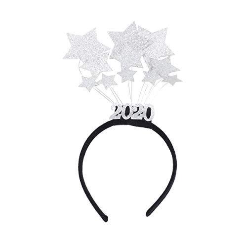 Holibanna Diadema de a/ño nuevo 2020 diadema de estrellas brillantes accesorios de cabello de a/ño nuevo accesorios para el cabello para fiesta de fin de a/ño