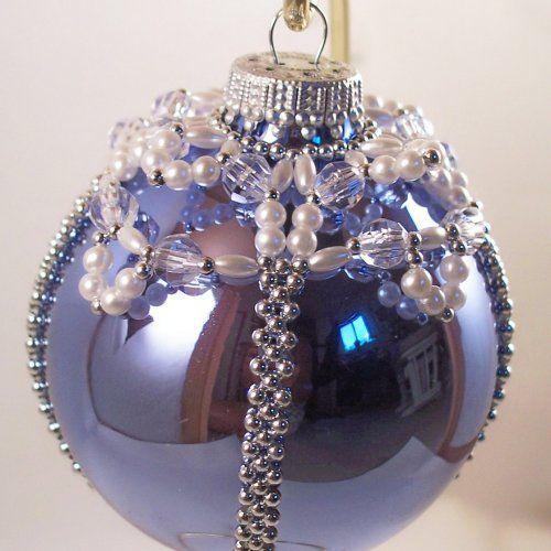 Elegant Christmas Decorations elegant christmas ornament pattern, beading tutorial in pdf $5.00