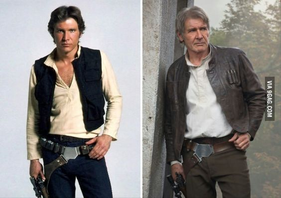 It took Han Solo 40 years to finally button his shirt
