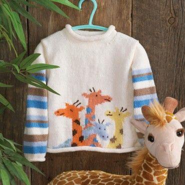 Knitting Pattern Baby Girl Jumper : Giraffes, Knit crochet and Crochet sweaters on Pinterest