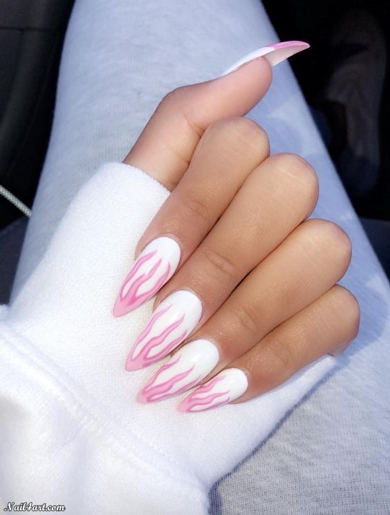 Im Kinda In Love With Flame Nail Designs Fire Nails Neon Nails Trendy Nails