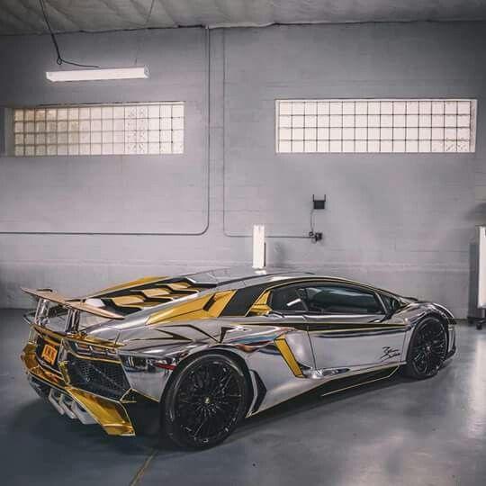 Sports Cars Lamborghini Aventador Sv: Lamborghini Aventador SV Gold And Krom