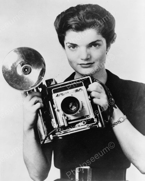 Jacqueline Kennedy Onassis Camera Shoot Vintage 8x10 Reprint Of Old Photo
