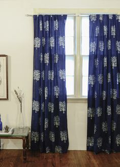 Block print curtains. See More. Deep in the tree: