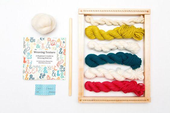 Wall Art Weaving Loom Kit for Hand Weaving Texture  by FiberHuis