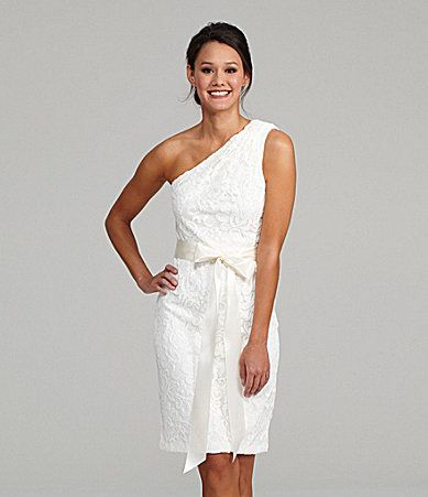 Betsy and Adam OneShoulder Dress #Dillards