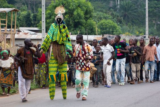 Stilt man, Ivory Coast, West Africa #ivorycoast #africatravel