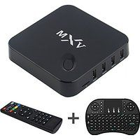 Jabond MXV Android Smart TV Box KODI Full Loaded Add-ons Unlocked S805 Quad Core WIFI Built-in 4K 3D Blu-ray Streaming Media Player with AV Cable 1G/8G