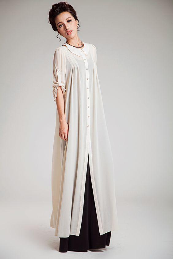 Över långärmad t-shirt/kjol eller en abaya som lätt extra lager ...