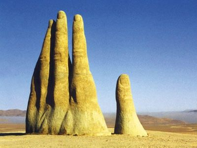 Hand of the Desert in Antofagasta, Chile.: