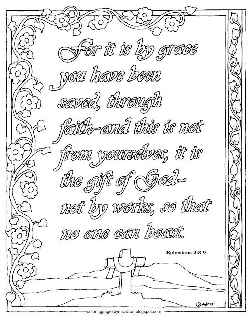 Coloring Pages For Kids By Mr Adron Bible Verse Coloring