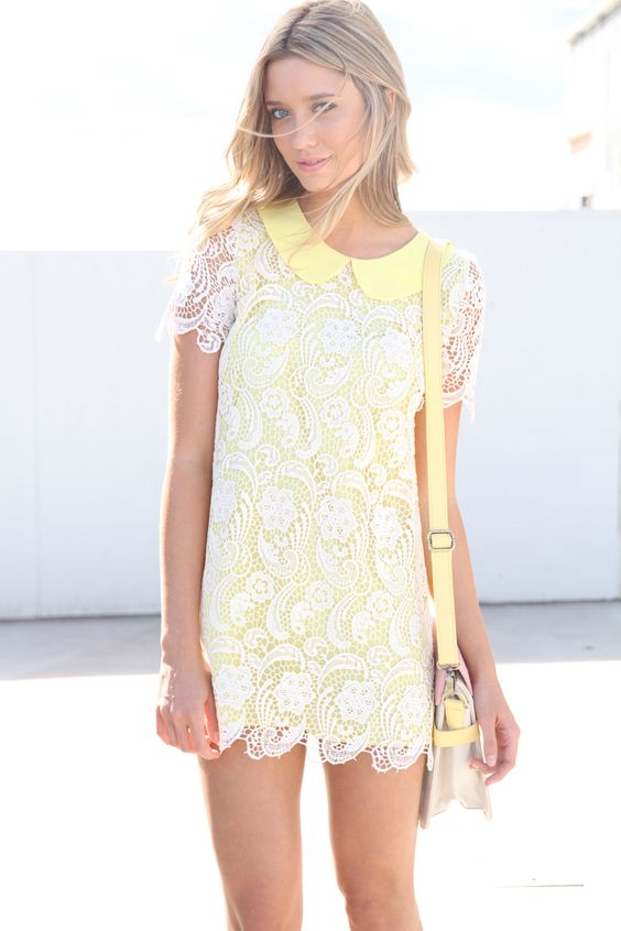 delicate yellow dress