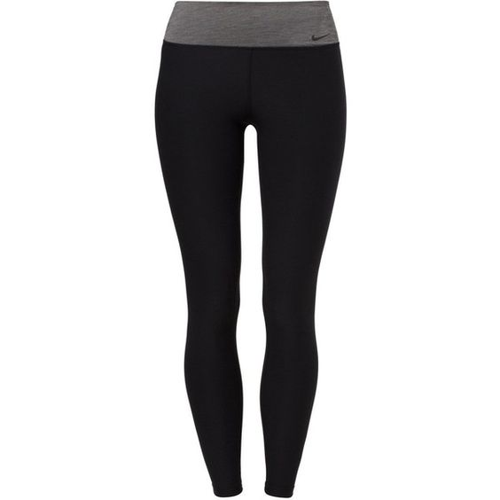 Nike Performance LEGEND Tights (€44) ❤ liked on Polyvore featuring activewear, activewear pants, pants, leggings, bottoms, sports, nike, black, nike activewear and nike activewear pants