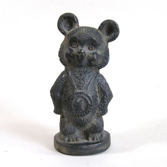 Tin Figurine Bear With Medal by hitarpetar on Etsy, $37.99