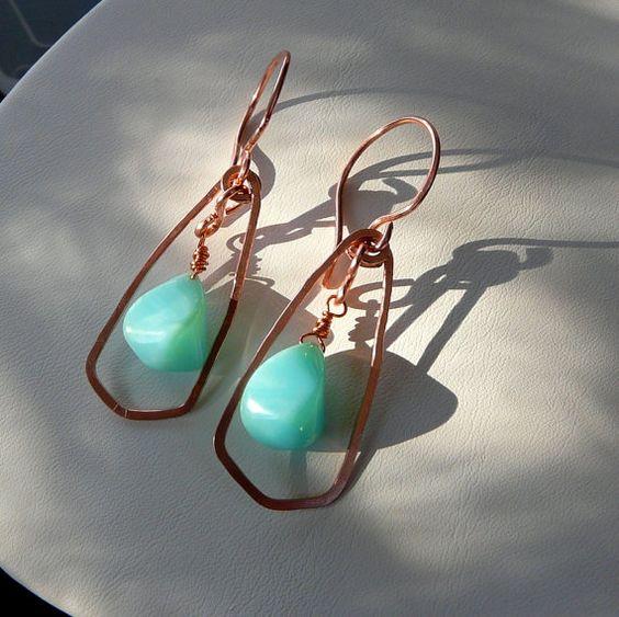 Earrings Handmade Copper Earrings Metal Work by HeidemarieMDesign Gorgeous!