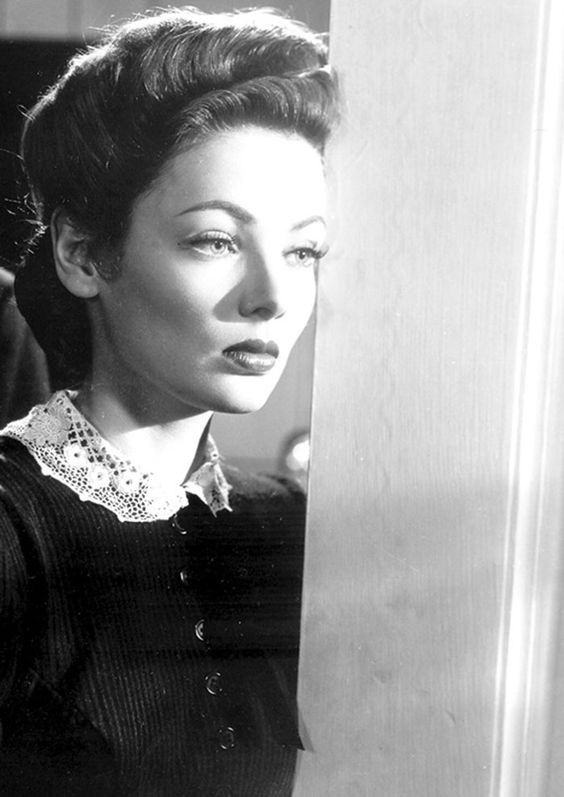 "Gene Tierney en ""El Fantasma y la Señora Muir"" (The Ghost and Mrs. Muir), 1947:"