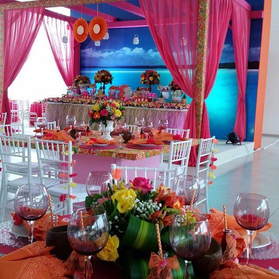 Bem-vindos ao chá  de panela da Mirian e Davi... um Hawaii cheio de cores e doçuras!!! By @rrdamata para @daviemi