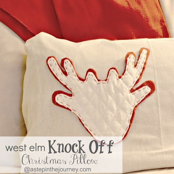 west elm knock off Christmas pillow