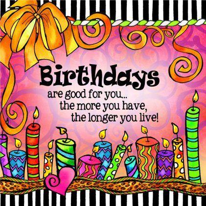 Amazon.com: Suzy Toronto Cocktail Napkins, Birthdays Are Good for ...